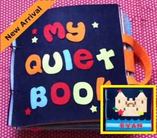 Quiet Book - 2nd Edition with Personalised Name - JustRead.com.au