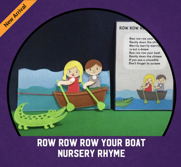 Felt Nursery Rhymes - Row Row Row Your Boat - JustRead.com.au