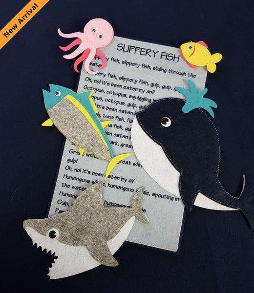 Felt Nursery Rhymes - Slippery Fish - JustRead.com.au