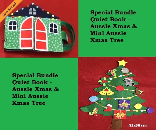 Special Bundle: Quiet Book - Aussie Xmas & Mini Aussie Xmas Tree - JustRead.com.au