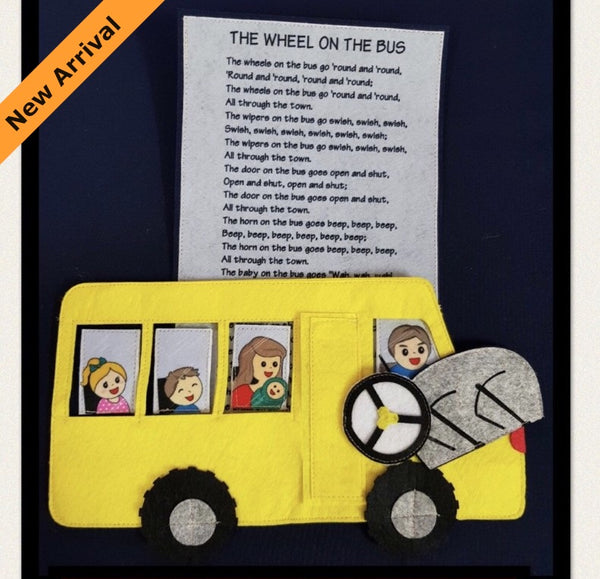 Felt Nursery Rhymes - Wheels On The Bus - JustRead.com.au