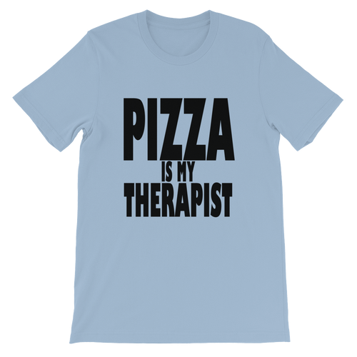pizza is my therapist Unisex short sleeve t-shirt
