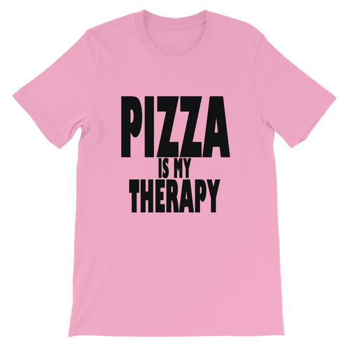 pizza is my therapy Unisex short sleeve t-shirt