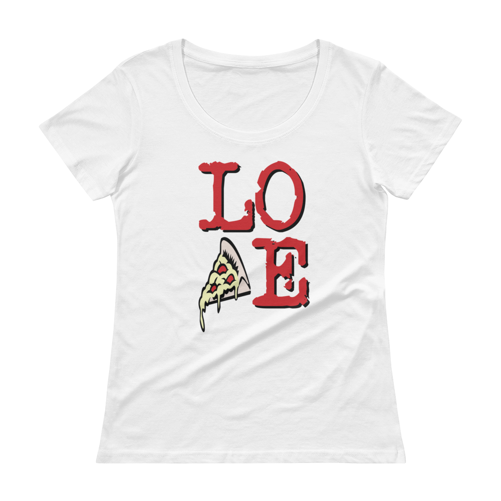 LOVE Ladies' Scoopneck T-Shirt