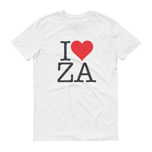 I Love ZA Short sleeve t-shirt