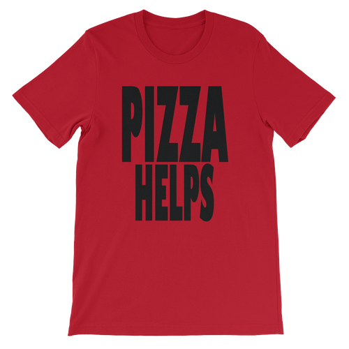 pizza helps Unisex short sleeve t-shirt
