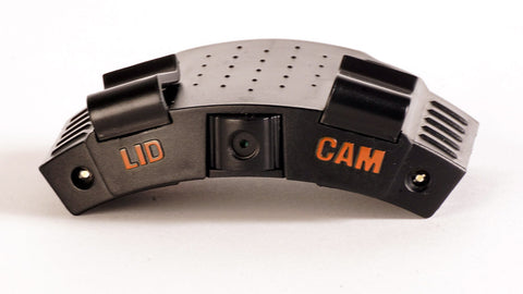 Lidcam Camera with a white background