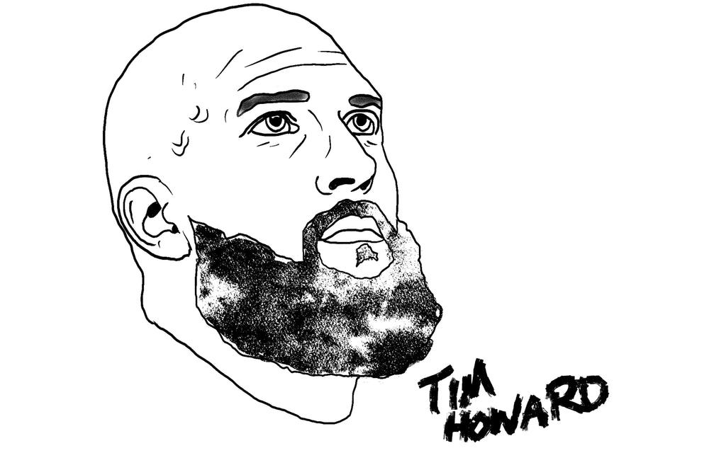 Tim Howard drawing by Squared Limited