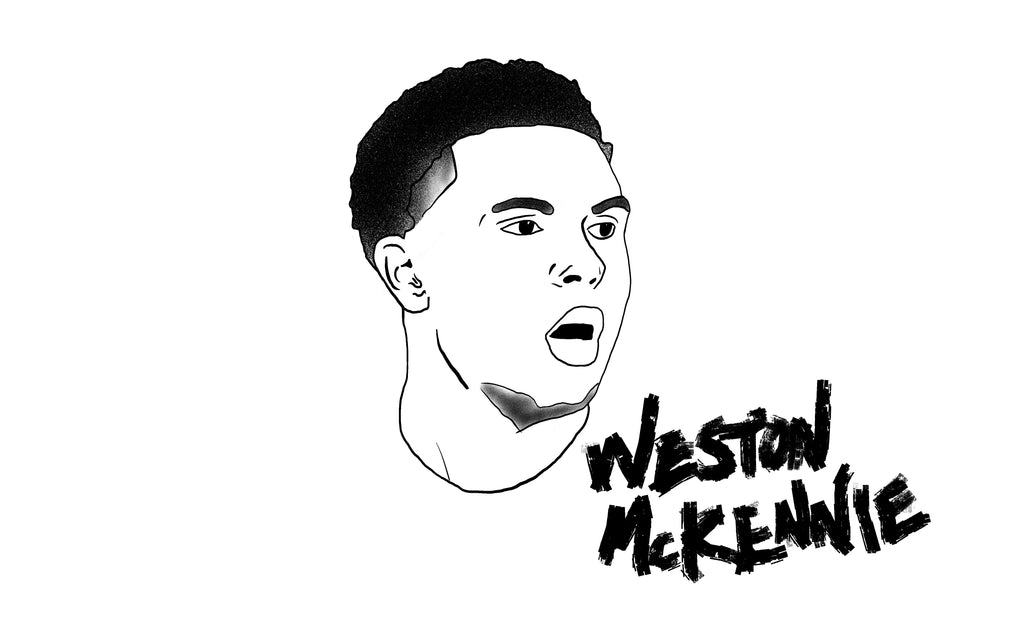 Weston McKennie drawing by Squared Limited
