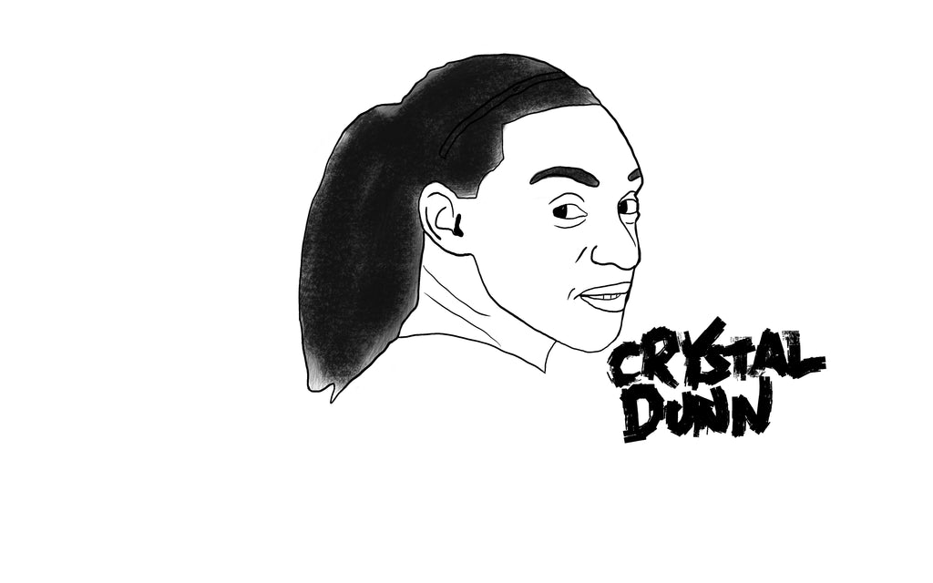 Crystal Dunn drawing by Squared Limited