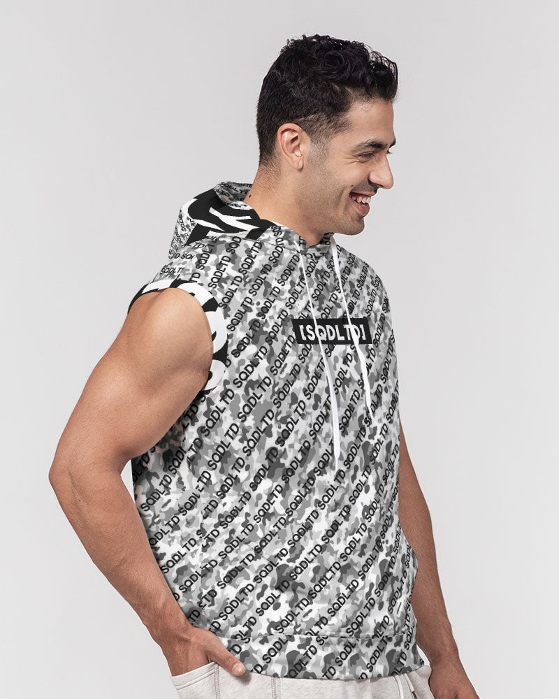 SQD Men's Premium Sleeveless Hoodie Camo Lite by Squared Limited