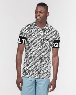 SQD Men's Slim Fit Short Sleeve Polo Camo Lite by Squared Limited