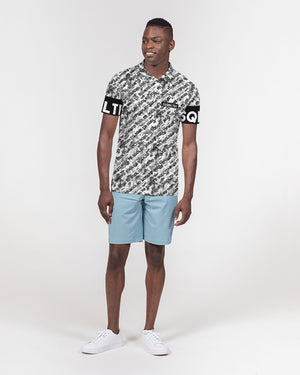 SQD Men's Slim Fit Short Sleeve Polo Camo Lite