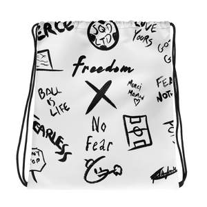 Freedom X No Fear Drawstring bag BL