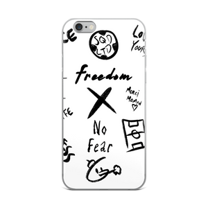 Freedom X No Fear iPhone Case BL