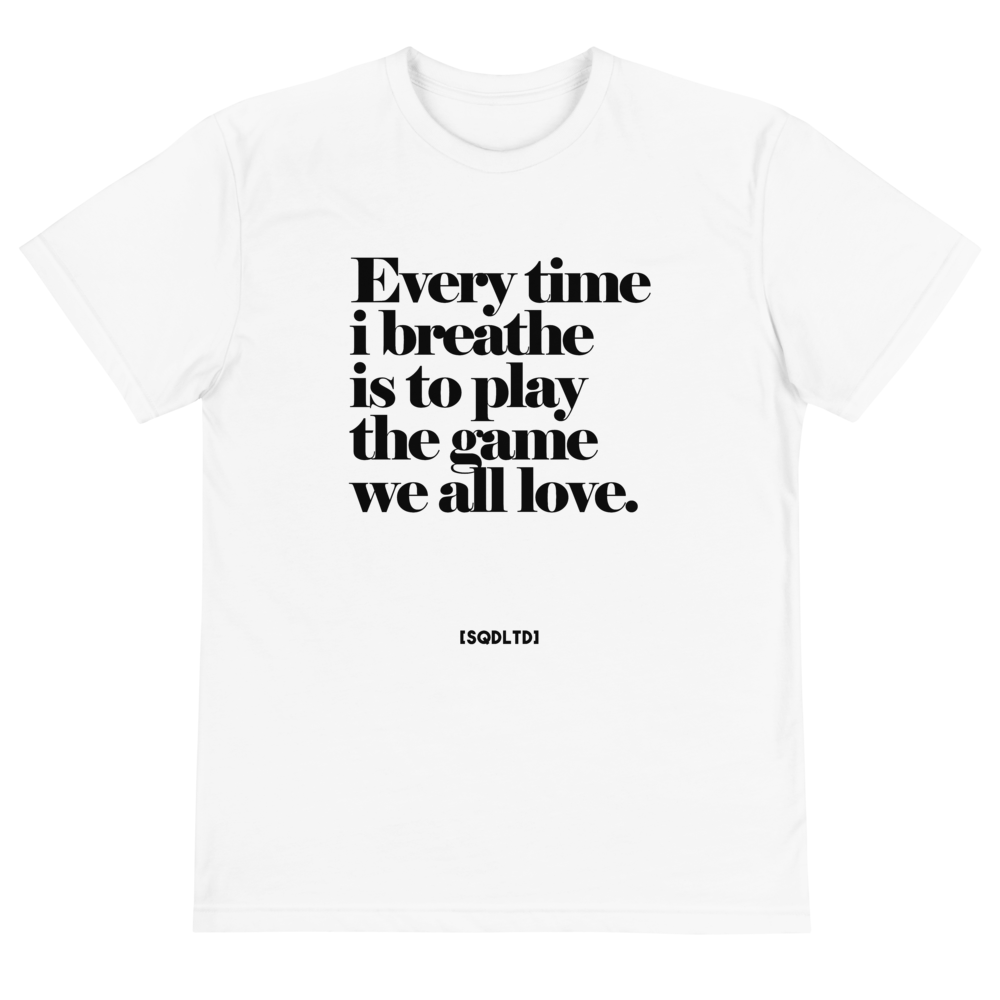 Every Time I Breathe Eco Tee BL by Squared Limited