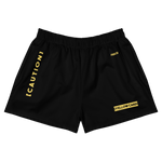 Sqdltd Yellow Card Women's Athletic Shorts