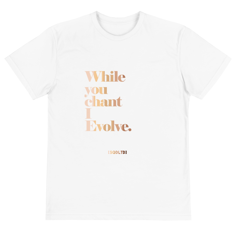 While You Chant Eco Tee All Shades by Squared Limited