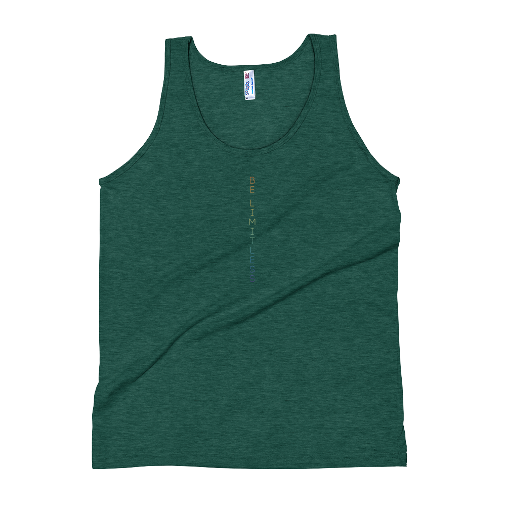 Be Limitless Pride Vert Unisex Tank by Squared Limited