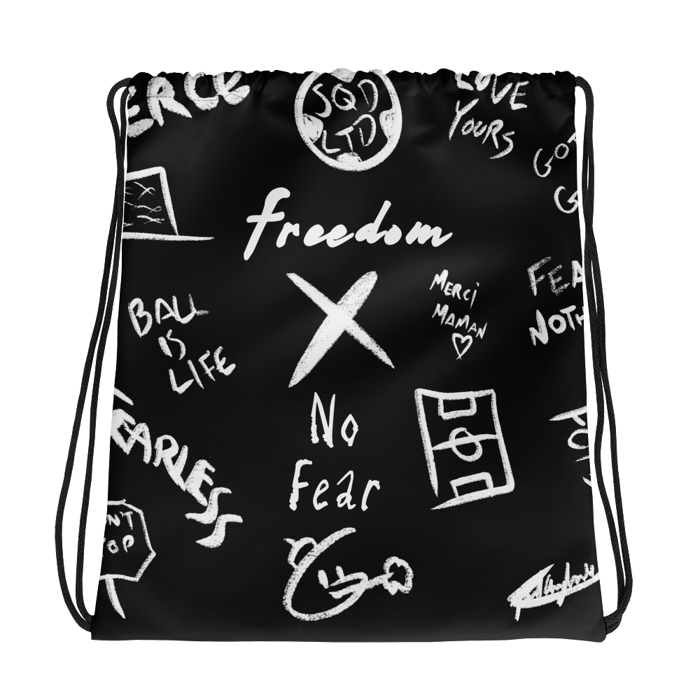 Freedom X No Fear Drawstring bag WL