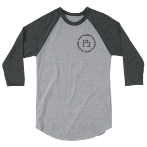 The Crest 3/4 sleeve raglan shirt
