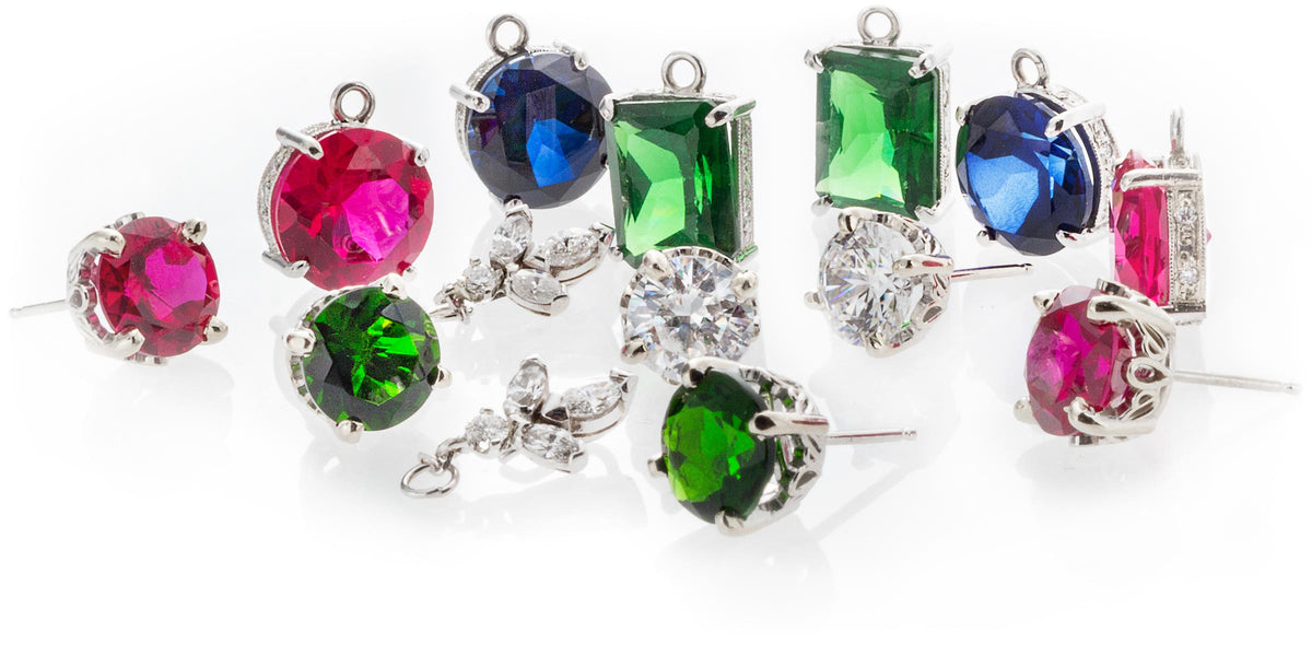 Multi earring piece interchangeable set designed by Ron George.