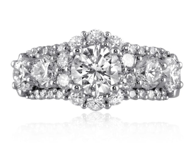 Diamond cluster ring remount design by Ron George.