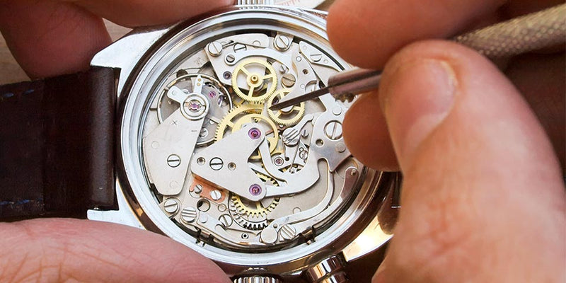 Watch being repaired.