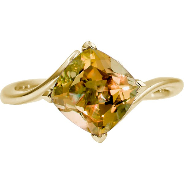 Citrine Bypass Yellow Gold Ring (RGJ10010-52)Top