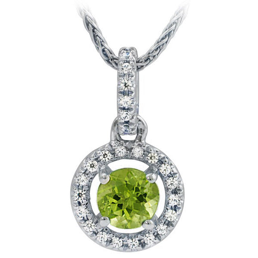 Peridot and Diamond Pendant (RGJ10411-49)