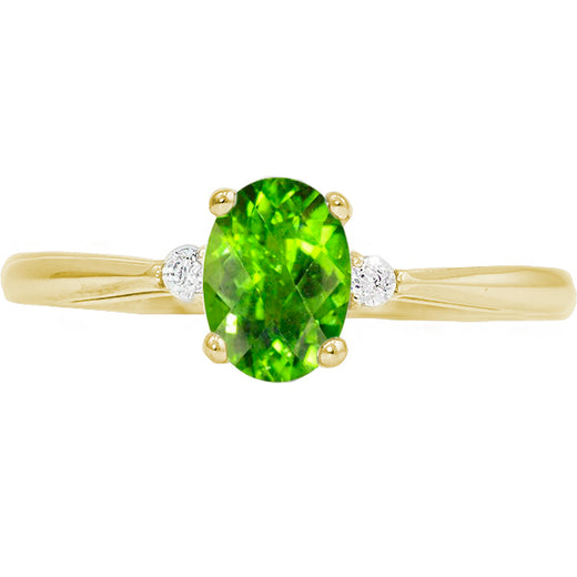 Yellow Gold Peridot Ring (RGJ127T-29)