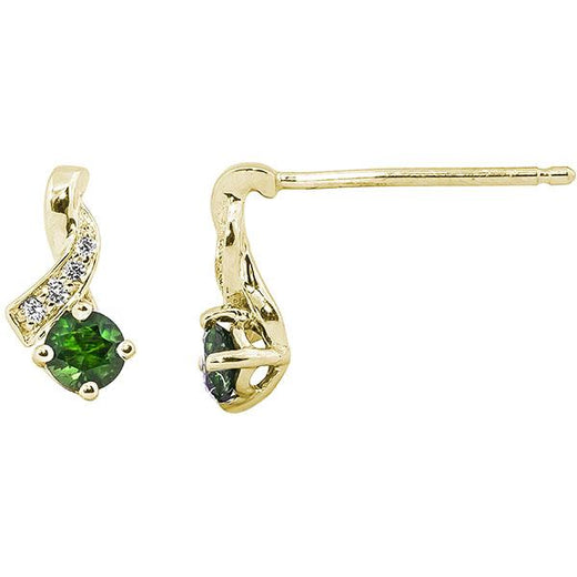 Emerald Stud Earrings (RGJ17312-13)