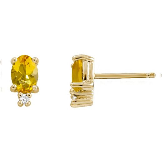 Citrine and Diamond Earrings ( RGJ2202-10)