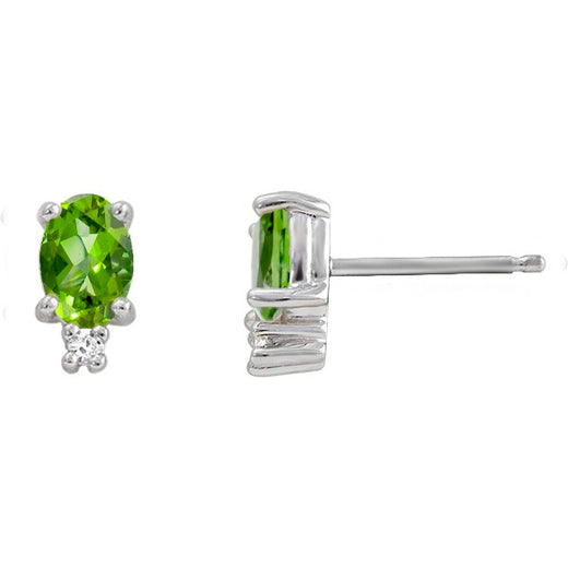 Peridot and Diamond Earrings (RGJ2202-85)