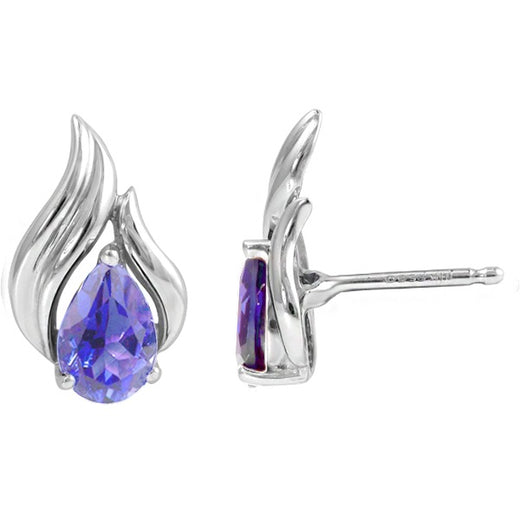 Tanzanite Stud Earrings (RGJ2350-13)