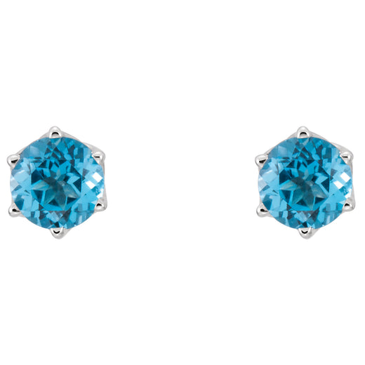 Swiss Blue Topaz Stud Earrings 28808-70000 (front)