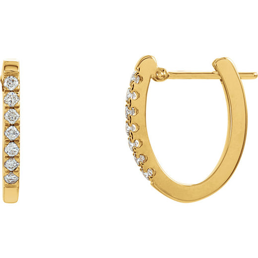 Diamond Hoop Earrings 1/5 ctw (RGJ61494) 14kt Yellow Gold
