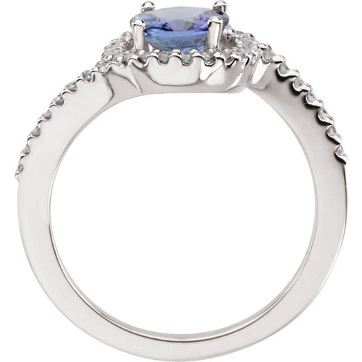 Tanzanite and Diamond Accented Ring (RGJ64012-60001) Side