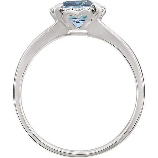 White Gold Sky Blue Topaz and Diamond Ring (RGJ651952-60012) Side
