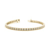 Diamond Tennis Vintage Gold Bracelet (RGJ70283) 14kt Yellow Gold