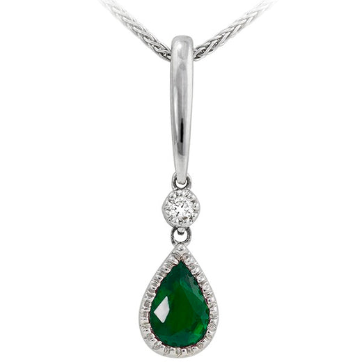 Emerald and Diamond Pendant (RGJ7910-01)