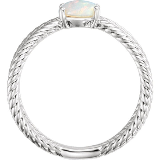 Opal Sterling Silver Ring (RGJ71933) Side