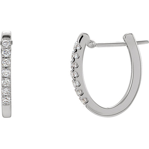 Diamond Hoop Earrings 1/5 ctw (RGJ61494) 14kt White Gold