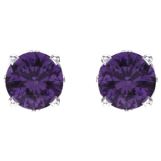 Amethyst Stud Earrings 1924-101 (front)