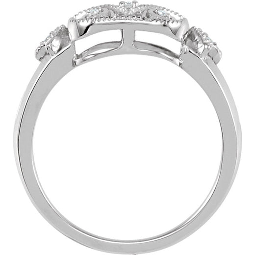 Sterling Silver Diamond Ring (68938-107) Side