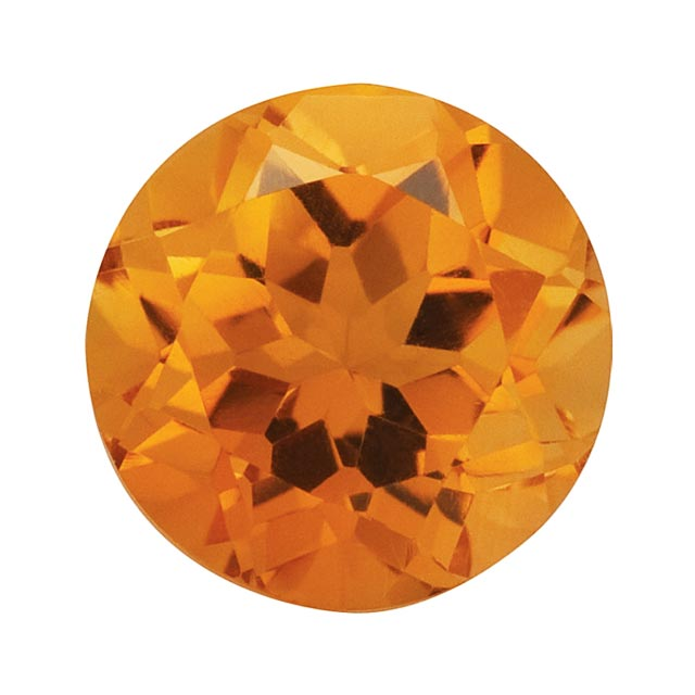 Loose Citrine Gemstone (RGJ-Citrine) Round AA