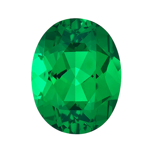 Loose Emerald Gemstone (RGJ-Emerald) Oval Gem Quality Rendition