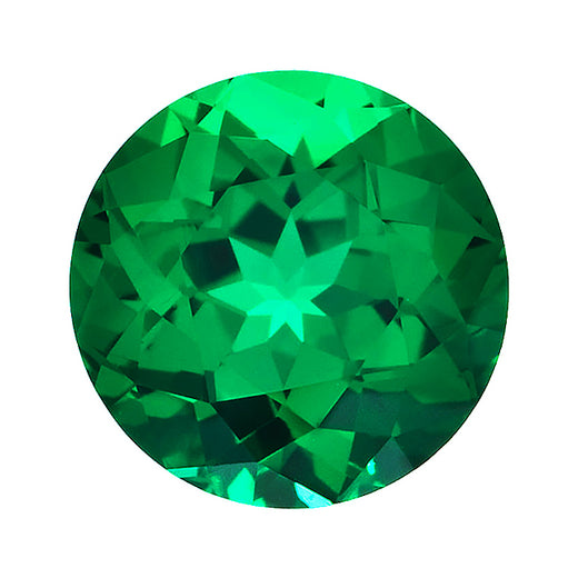 Loose Emerald Gemstone (RGJ-Emerald) Round Gem Quality Rendition