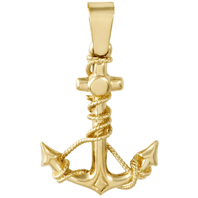 Captain's Anchor Gold Pendant (RGJ23-788) 10kt Yellow Gold