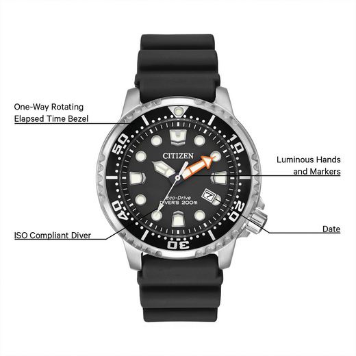 Promaster Diver functions layout and details